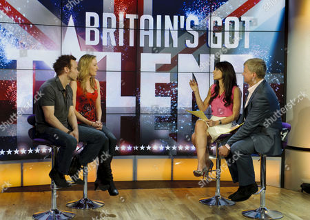 David Penn and Karen Tomkins with Christine Bleakley and Adrian Chiles
