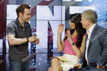 David Penn with Christine Bleakley and Adrian Chiles