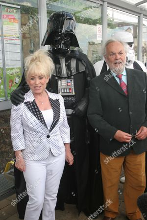 Editorial image of Barbara Windsor unveils plaque at Elstree and Borehamwood Station - 22 May 2011