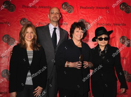 Stock Photo of Director Michael Epstein, Susan Lacy, Yoko Ono