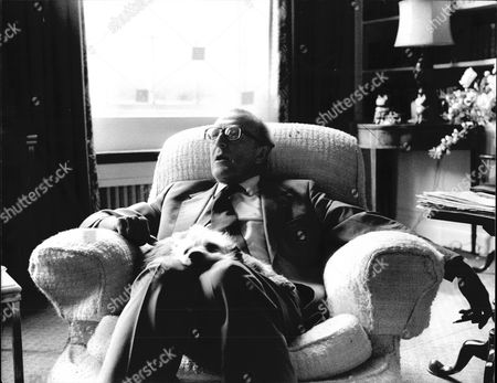 6th Baron Carrington Of Upton Relaxing At Home.