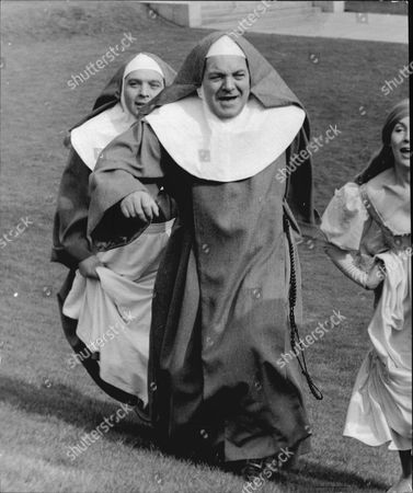 Actor Patrick Wymark Dressed As Mother Superior In 'the Nuns'.