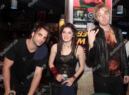 Mark Goodwin, Emma Anzai and Shimon Moore of Sick Puppies