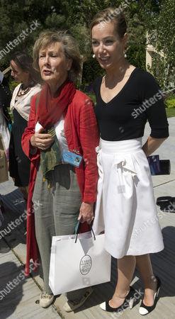 Stock Image of Patricia Palmer-Tomkinson and Tara Palmer-Tomkinson