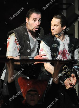 'Macbeth' - Dimitri Pittas (Macduff) and Simon Keenlyside (Macbeth)