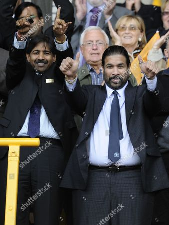 Stock Image of Blackburn Rovers Owners and Directors of Venky's Balaji Rao and Venkatesh Rao (left)