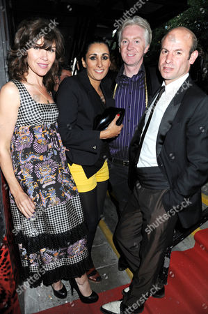 Jess Morris with Serena Rees, Philip Treacy and Stefan Bartlett