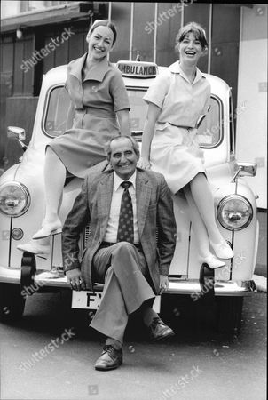 Actress Susan Gilmore Wearing New Nurses Uniform Pictured With Heart Transplant Patient Keith Castle (dead 6/1985) And Actress Fay Howard.