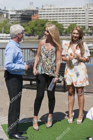 Phillip Schofield with Nadine Baggott and Lauren Goodger