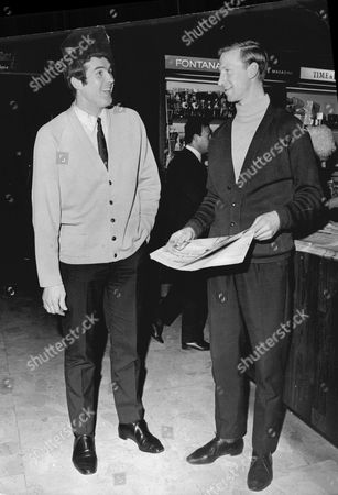 Ron Yeates Of Liverpool Fc Meets Jack Charlton Of Leeds United - 1968 At The Royal Garden Hotel.