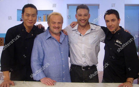 Jun Tanaka Antony Worrall Thompson, Toby Anstis and Gino D'Acampo