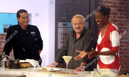 Jun Tanaka, Antony Worrall Thompson and Josie D'Arby
