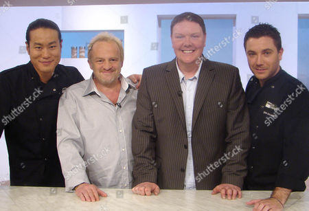 Jun Tanaka,  Antony Worrall Thompson,  Dominic Brunt and Gino D'Acampo