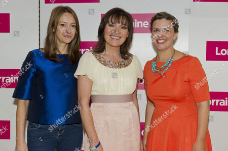 Stock Picture of Amber Morales, Lorraine Kelly and Erica Davies