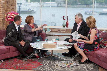 Paul Ross and Rachel Agnew with Eamonn Holmes and Ruth Langsford
