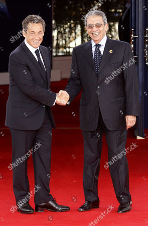 Amr Moussa, Secretary General of the League of Arab States and French President Nicolas Sarkozy