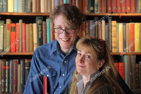 Stock Picture of The new owners of Richard Booth book shop in Hay on Wye are Elizabeth Haycock and Paul Greatbatch