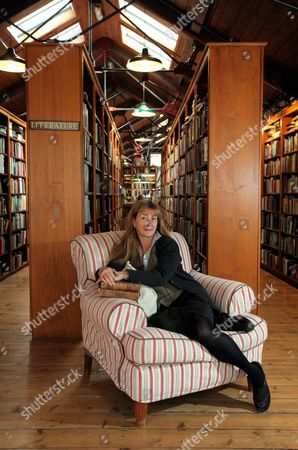 Stock Picture of The new owner of Richard Booth bookstore, Elizabeth Haycock