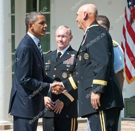 Barack Obama, Army General Martin Dempsey, Admiral James Winnefeld to be new Vice Chairman and Army General Ray Odierno to be new Army Chief of Staff
