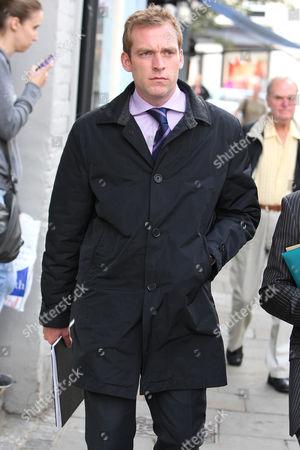 Adam Cottrell leaving court