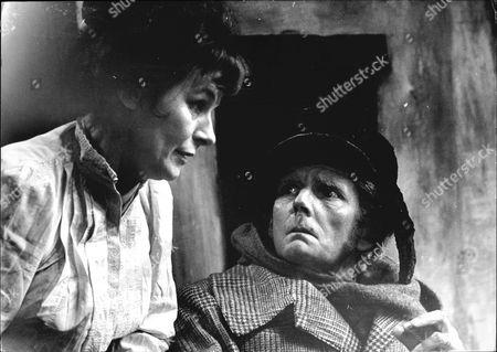 Hilda Fenemore And Robert Eddison In Theatrical Play ' Dandy Dick'.