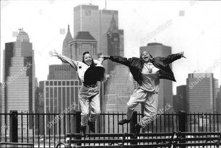 Stock Image of Debbie Pryce And Suzie Banfield Of Rap Duo 'the Cookie Crew' Pictured In New York.