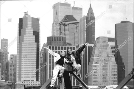 Stock Photo of Debbie Pryce And Suzie Banfield Of Rap Duo 'the Cookie Crew' Pictured In New York.
