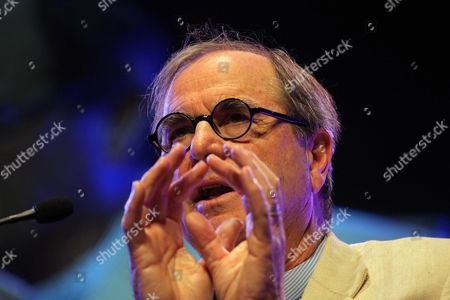Stock Image of Travel writer Paul Theroux at the Barclays Wealth Pavilion