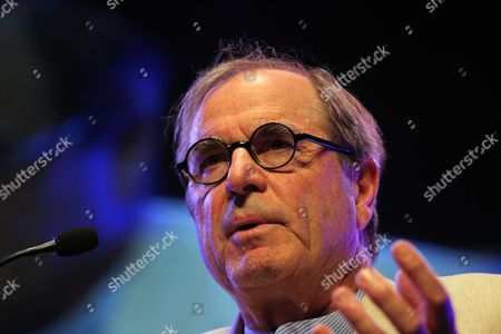 Stock Photo of Travel writer Paul Theroux at the Barclays Wealth Pavilion