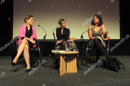L-R: Author Ann Patchett, Lisa Dwan and author Kishwar Desai