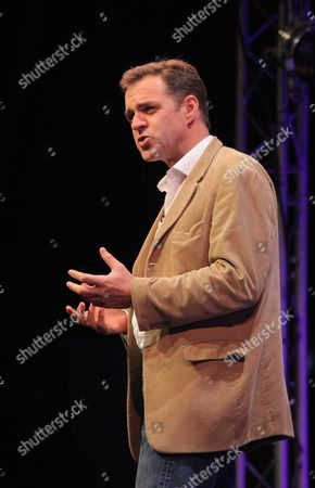 """Niall Ferguson at the Barclays Wealth Pavilion, giving a lecture titled """"Civilization - The West and The Best"""""""