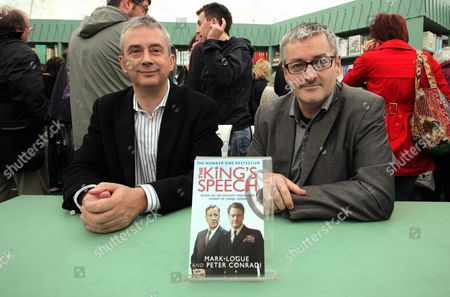 Stock Photo of L-R Peter Conrad with co-author of The King's Speech Mark Logue