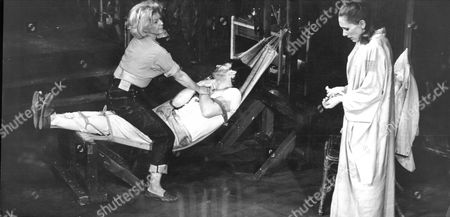 Stock Picture of Production Of Stage Play 'night Of The Iguana' With Actors Vanda Godsell Mark Eden And Sian Phillips In 1965.