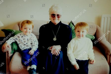 Patricia Bingley with her grandsons Ryan and Elliot
