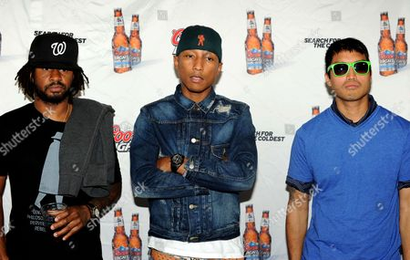 Stock Picture of Shae Haley, Pharrell Williams and Chad Hugo