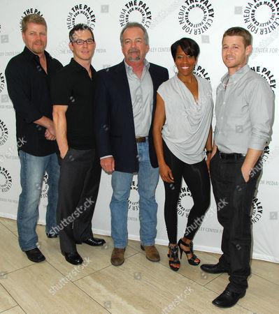 Stock Photo of Michael Cudlitz, Shawn Hatosy, Christopher Chulack, Regina King, Benjamin McKenzie