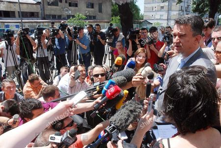 Darko Mladic, right, son of Bosnian Serb General Ratko Mladic