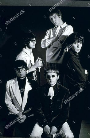 Stock Photo of Manfred Mann - Manfred Mann, Tom McGuinness, Mike d'Abo, Klaus Voormann and Mike Hugg