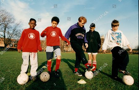 Editorial image of Actor John Salthouse Supervises A Training Session For West London Youngsters. John Is Starring In A Tv Play 'hero To Zero' Which Examines The Topical Theme Of Soccer Coaching Of Youngsters.
