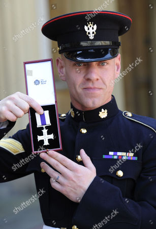 Corporal Mark Ward of the Mercian Regiment received the Military Cross