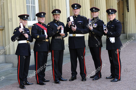 Six members of The Mercian Regiment received medals for their actions in Afganistan - Corporal Mark Ward MC, Warrant Officer Class 2 Anthony Higginbottom MBE, Major Richard Grover MBE, Lance Corporal Alan Redford MC, Captain Benedict Stephens QGM and Private Daniel Hellings QGM.