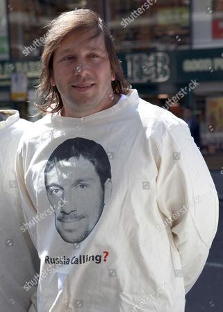 Editorial photo of Yevgeny Chichvarkin Protest, London, Britain - 01 Jun 2011