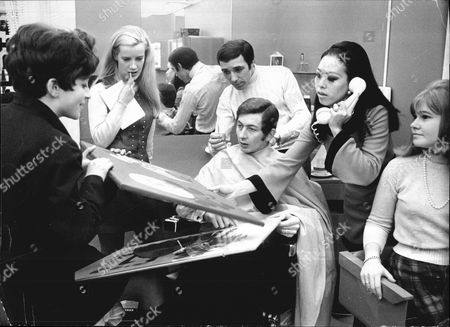 Disc Jockey Dave Cash In Hairdressers In 1968. See Versions For Names.