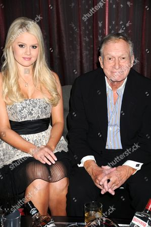 Stock Picture of Anna Berglund and Hugh Hefner