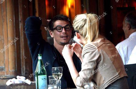 Stock Picture of Josh Hartnett and model girlfriend Sophia Lie