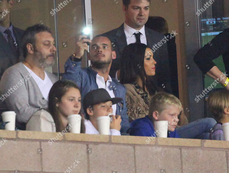 Stock Image of Wesley Sneijder and wife Yolanthe Cabau Van Kasbergen