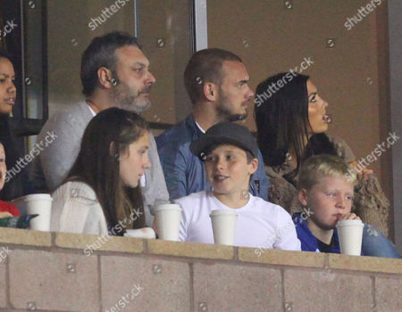 Brooklyn Beckham and Gordon Ramsay's daughter Megan, Wesley Sneijder and wife Yolanthe Cabau Van Kasbergen