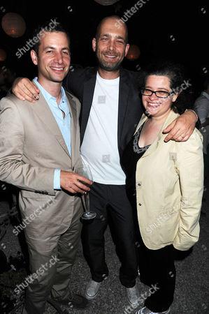 Matthew Slotover, guest and Amanda Sharp