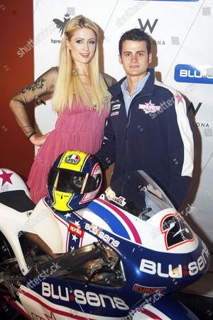 Paris Hilton and rider Sergio Gadea