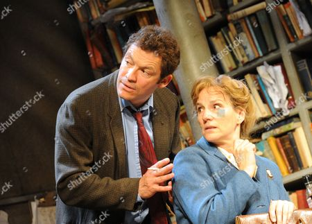 'Butley' - Dominic West (Ben Butley) and Penny Downie (Edna)